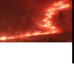 Retour en photo de La descente aux flambeaux géante à Châtel du 21.03