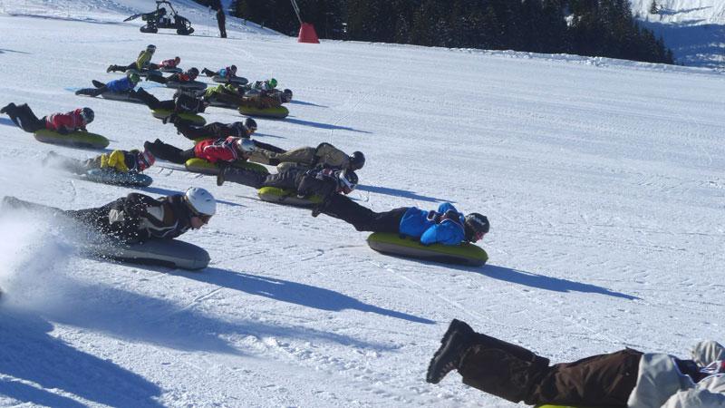 bodyboard des neiges