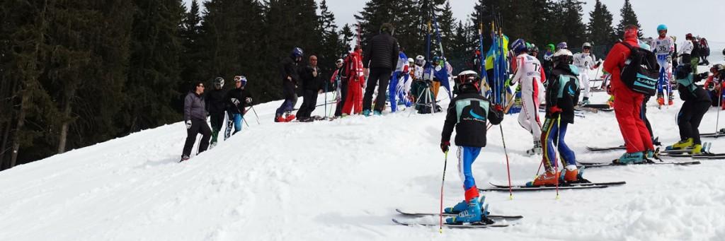 Bandeau ski alpin course