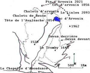 Accès au lac d'Arvouin