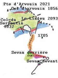 Croquis géologique Arvouin © BG - valdabondance.com
