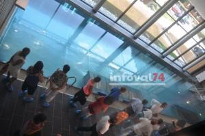 Visite inaugurale du centre aquatique