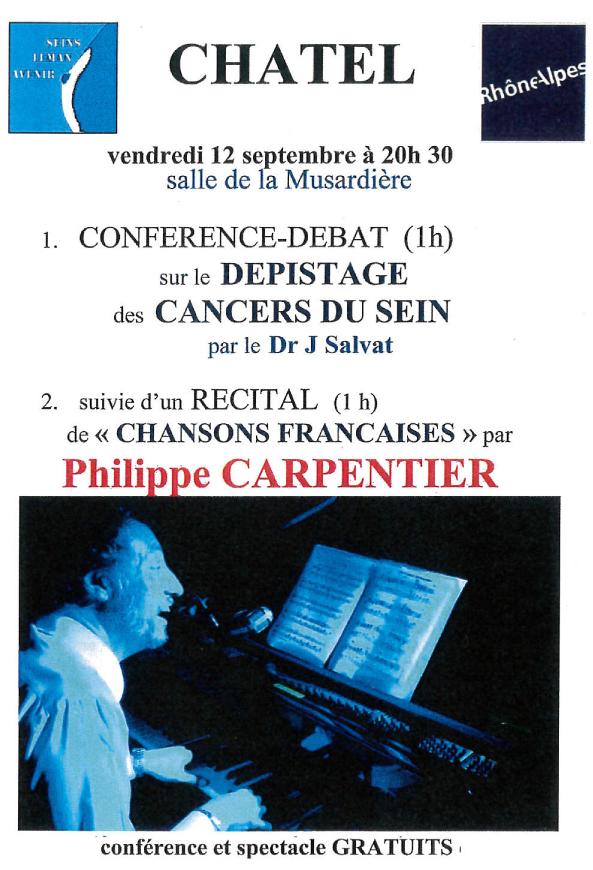 Affiche Concert Lutte contre cancer