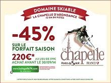 forfait saison la Chapelle