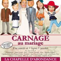 Nouvelle réprésentation  théatrale le 16.11 de Carnage au mariage
