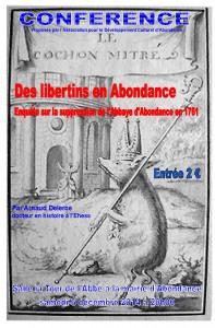 Affiche  ADSCA conf libertins en Abondance