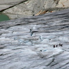 Excursion au glacier du Rhône