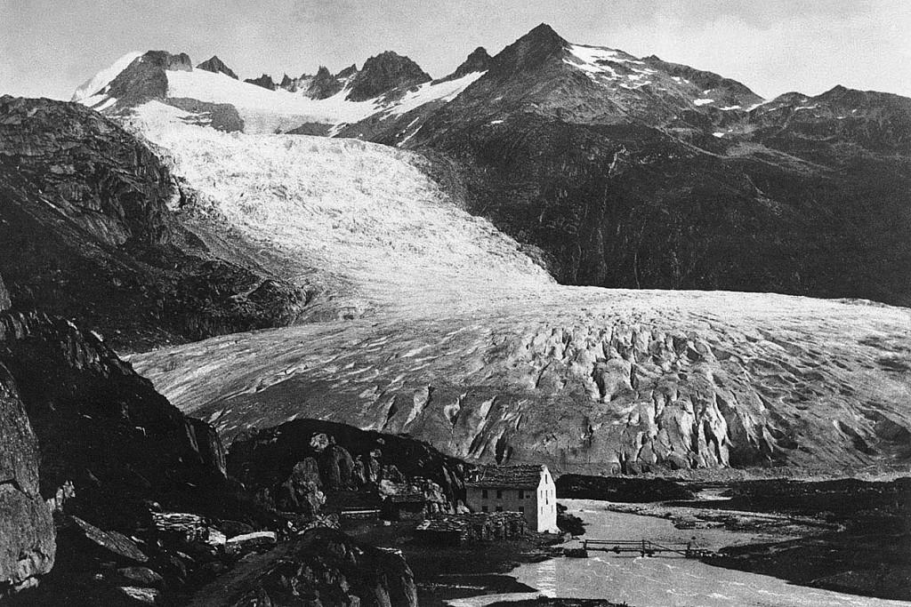 Glacier du Rhône vers 1850 © Collection B. Guffroy