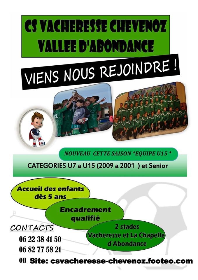 affiche vacheresse foot