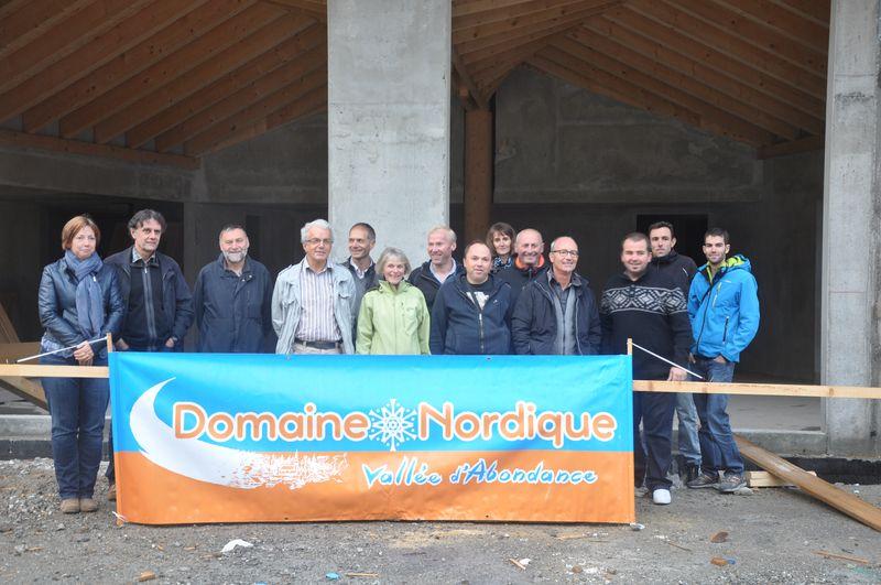 Les élus, personnels du 2CVA, représentants des ESF et du Chablais Nordique.
