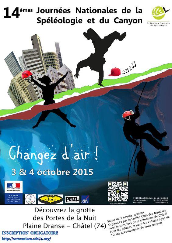 Affiche officielle avec les informations relatives à la sortie proposée à Châtel