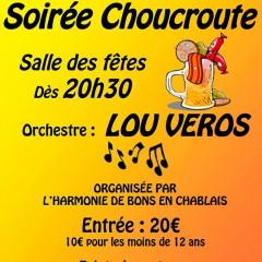 Soirée Choucroute le 17.10 à Bons avec LOU VEROS