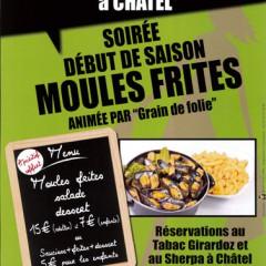 Ce vendredi 04.12 soirée Moules Frites à Châtel