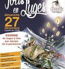 Participez à la course de luges à foin le 27.12à La Chapelle d'Abondance