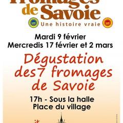 Dernière soirée dégustation des 7 fromages de Savoie