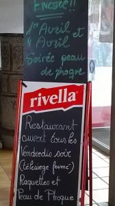 Panneau restaurant Foilleuse