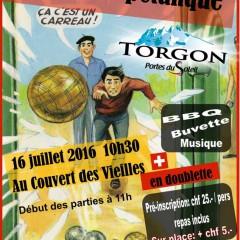 Tournoi de pétanque à Torgon