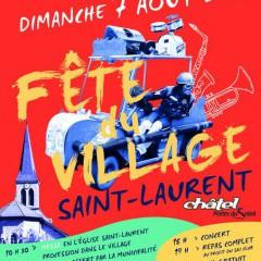 Fête du village à Châtel ce dimanche 07.08