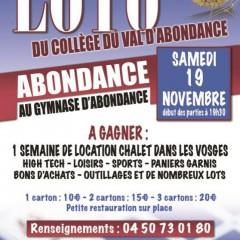 Loto du Collège du Val d'Abondance demain