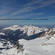 Panoramique sur les sommets du Chablais depuis Mossetaz