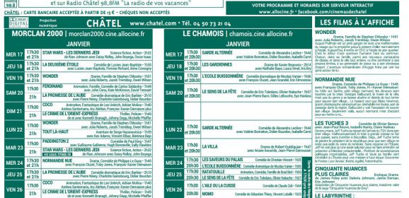 Programme Cinémas