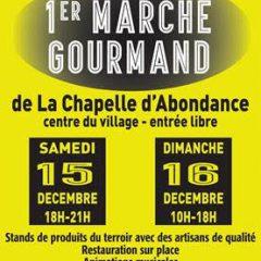 Premier Marché gourmand à La Chapelle d'Abondance